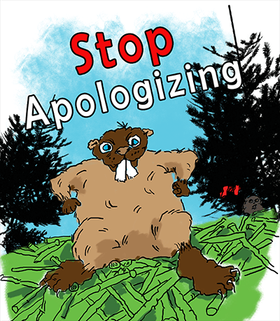 Shannon Kernaghan cartoon-beaver-colored-400 I'm Sorry, I'm Canadian Adventure Challenge Culture Family Humor Lifestyle Relationship